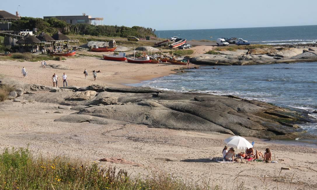 A praia de José Ignacio, nos arredores de Punta del Este, é um dos points do verão no Uruguai. Foto: Bruno Agostini / O Globo