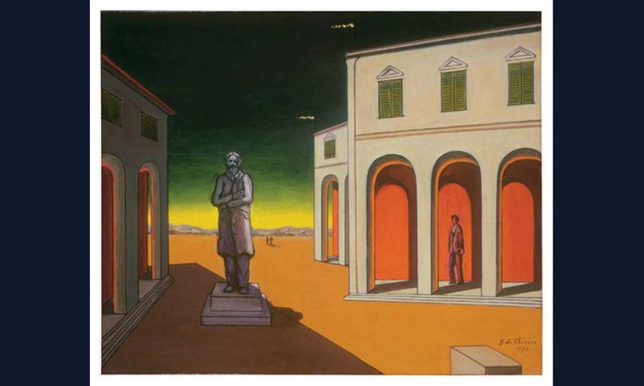 'Piazza d'Itália con statua di Cavour' (1974)