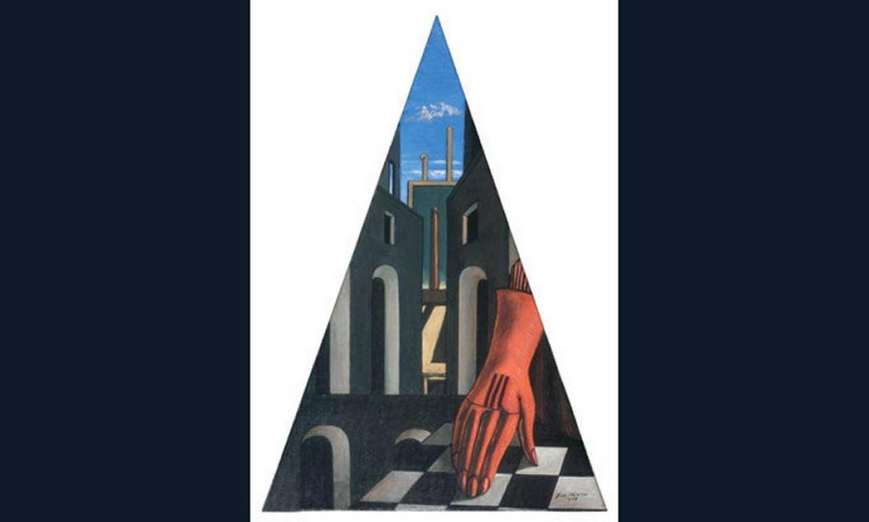 'Triangolo metafísico (con guanto)' (1958)