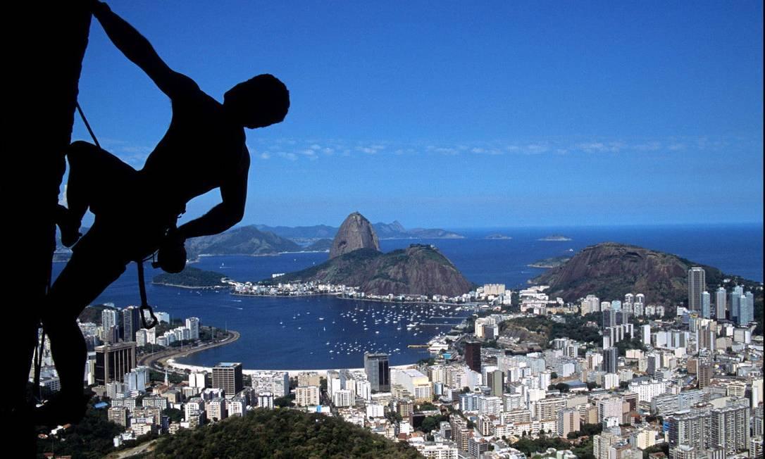Vista da cidade do Mirante Dona Marta, um dos points para escalada no Rio Marco Terranova