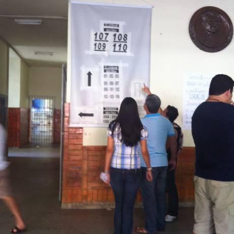 Eleitores em Belém, na votação que vai decidir divisão do Pará Foto: Cleide Carvalho/Ag. O Globo