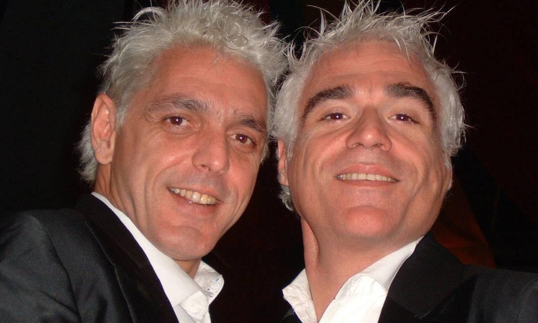 Durante os ensaios do espetáculo 'Aurora - O crepúsculo dos gêmeos', com Guilherme Leme. André Borges