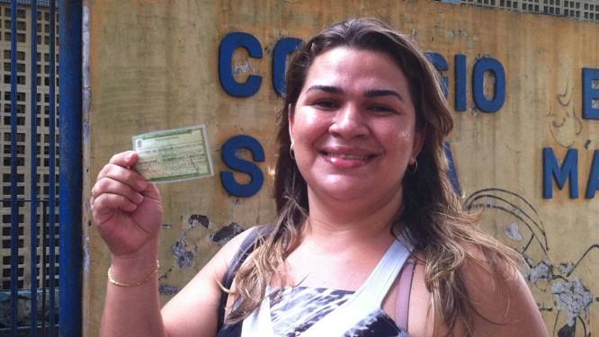 A eleitora Luciene Resque não vê motivos para divisão do Pará Foto: Cleide Carvalho/Ag. O Globo