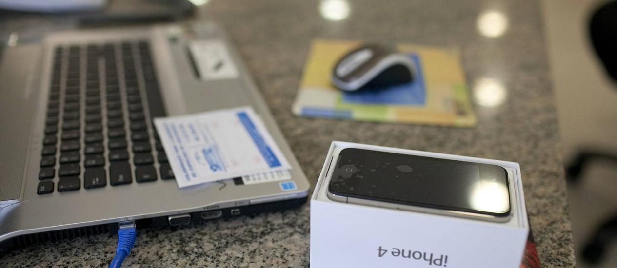 A cidade de Jundiai, no interior do estado de São Paulo, já produz iPhones 'Made in Brazil' Foto: Leonardo Soares / Agência O Globo