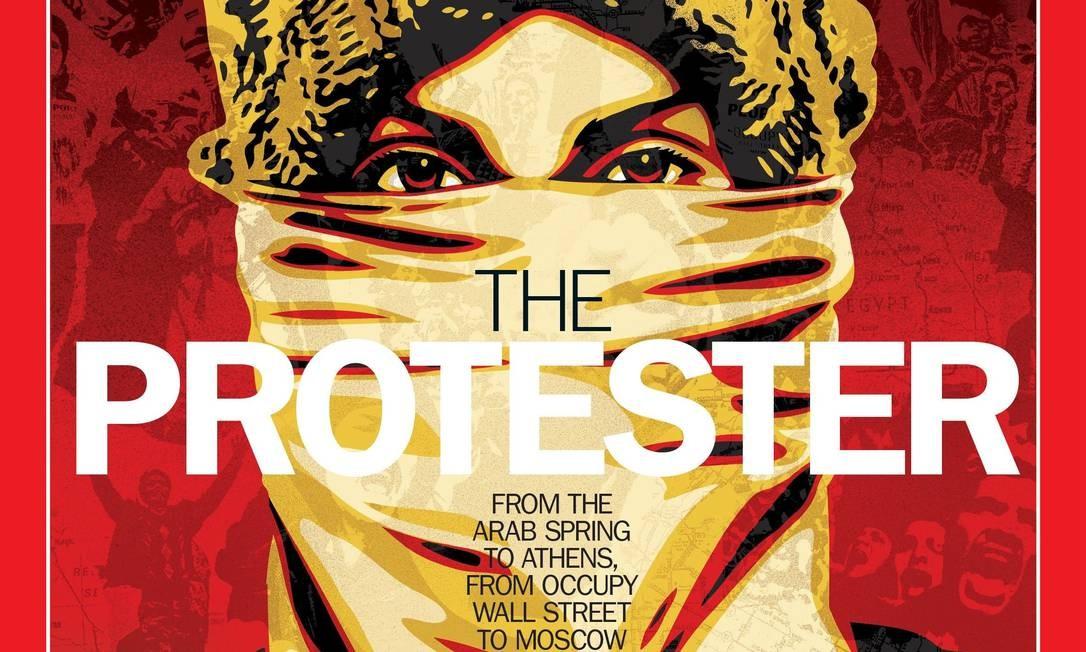 """O engajamento dos manifestantes que lutam por diferentes causas ao redor do mundo foram reconhecidos pela revista """"Time"""" como """"Personalidade do ano"""" de 2011 Foto: AFP"""