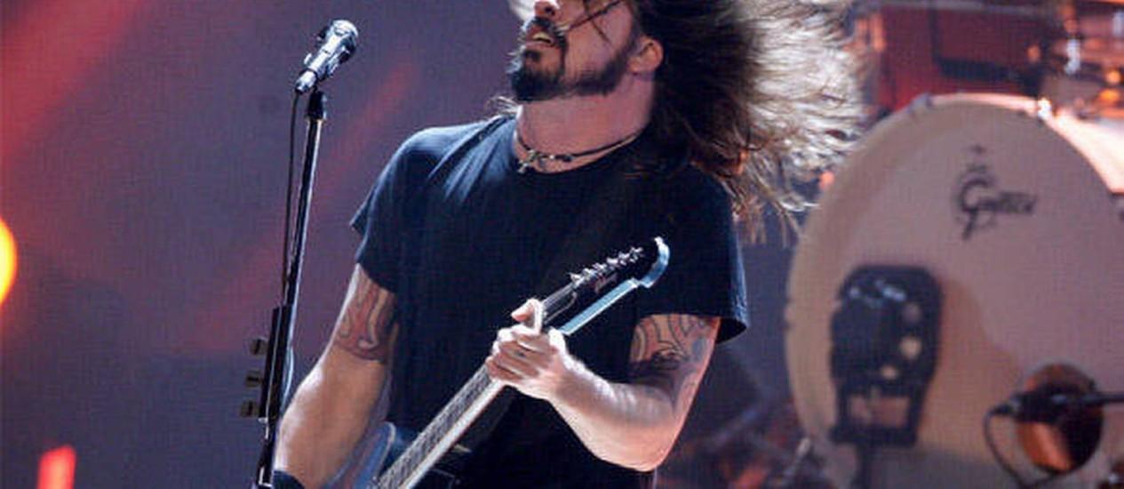 Dave Grolh durante show do Foo Fighters Foto: Reprodução da web