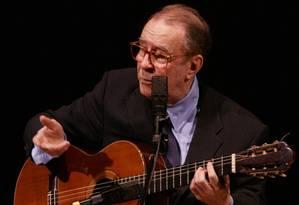 João Gilberto durante um show no Carnegie Hall, em Nova York Foto: Arquivo