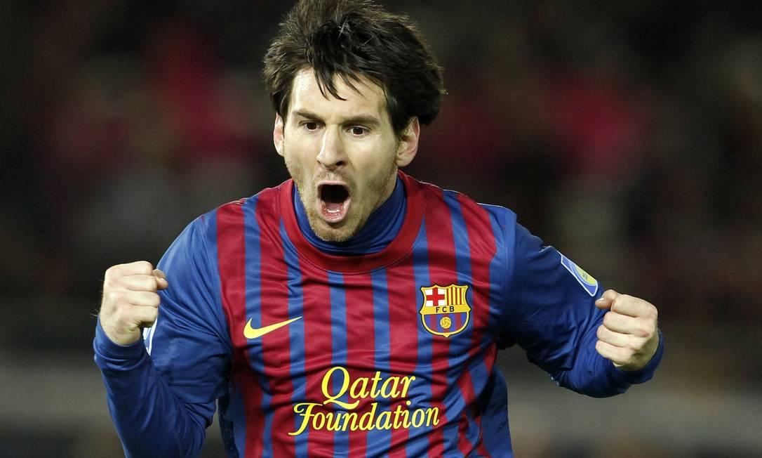 Messi vibra após marcar seu segundo gol Toru Hanai / Reuters