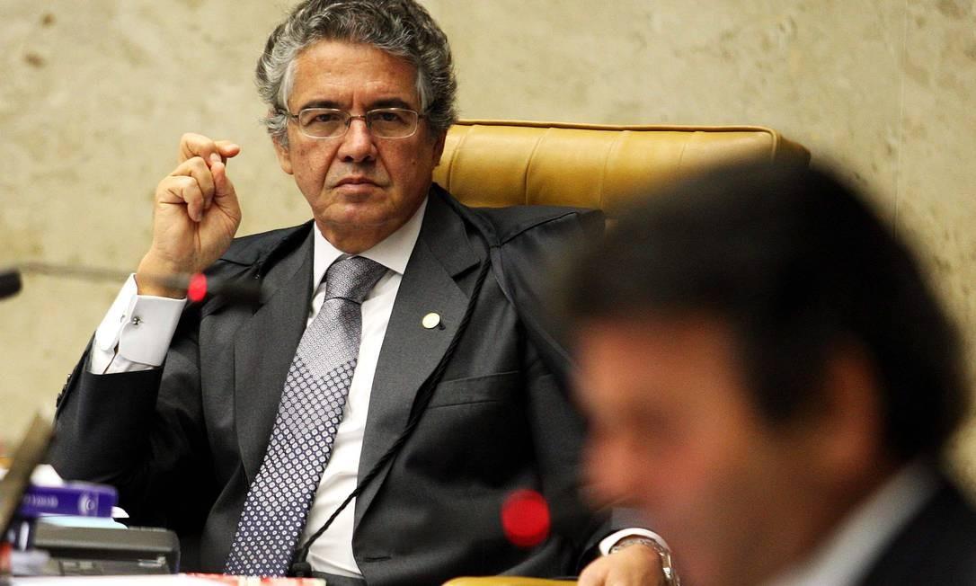 Ministro Marco Aurélio dá liminar no último dia de trabalho do ano do STF Foto: Ailton de Freitas / O Globo