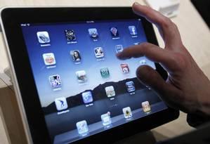iPad, tablet da Apple, montado por fabricantes chinesas Foto: Marcio Jose Sanchez / AP