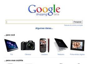 Google Shoppíng, serviço de buscas da Google que aparece com destaque quando o usuário busca por um produto no site Foto: O GLOBO / Reprodução
