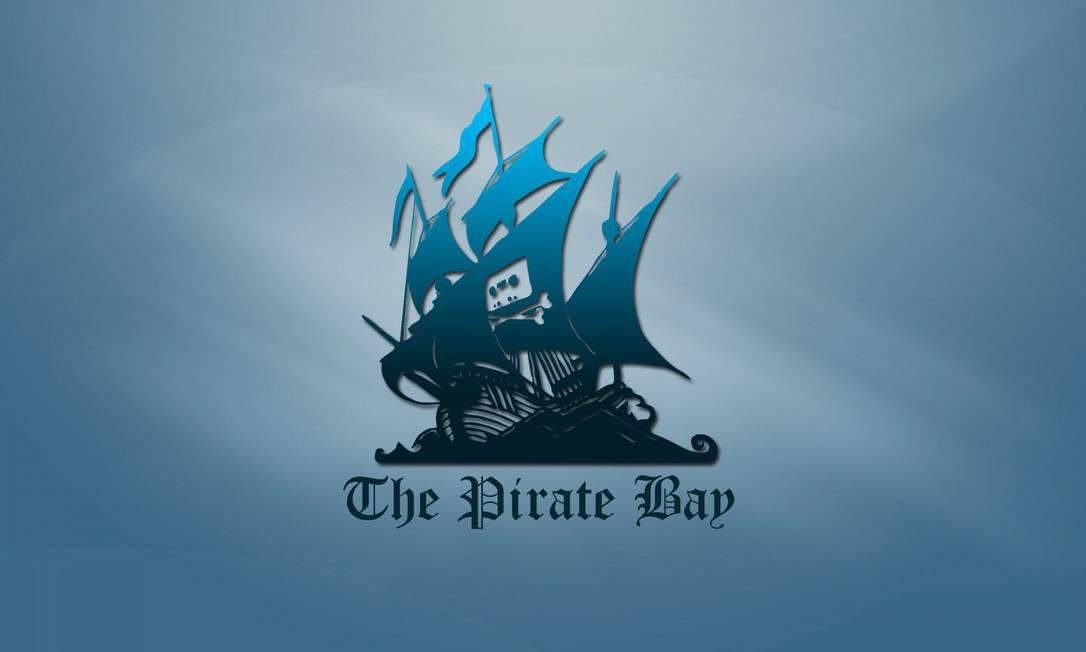 Logo do site de dowload 'The Pirate Bay' Foto: Reprodução
