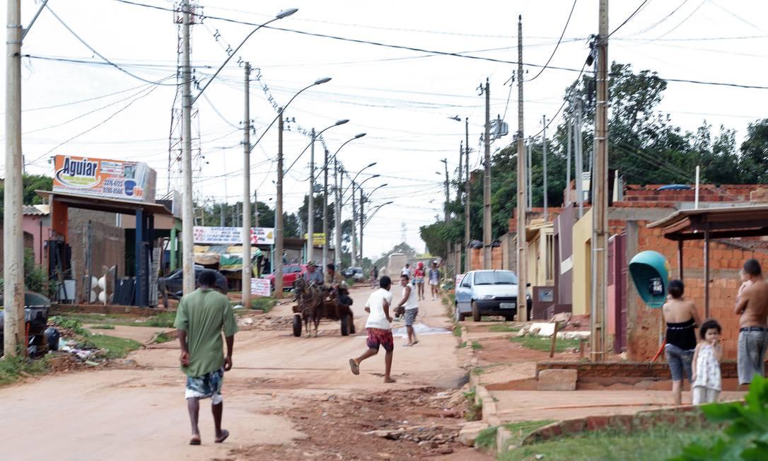 Condomínio Sol Nascente, uma área não regularizada na periferia de Brasília e que, segundo o IBGE, é a segunda maior favela do país com 56 mil moradores Foto: Sérgio Marques / O Globo