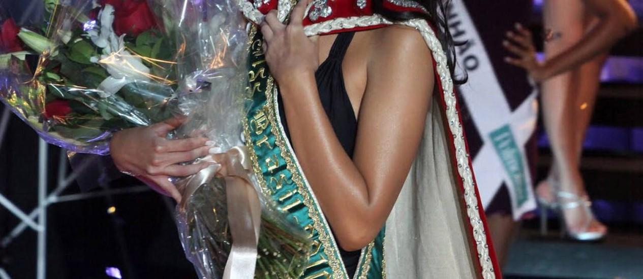 A miss Brasil Débora Lyra sofreu acidente de carro no Espírito Santo Foto: Reprodução