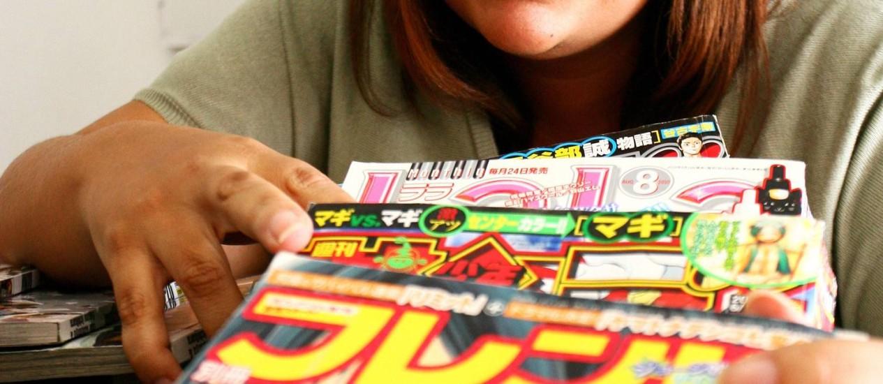 BIA COSTA ministra cursos de mangá durante as férias em estúdio na Tijuca: opção para quem quer conhecer melhor a cultura pop do Japão Foto: Angelo Antônio Duarte / O Globo