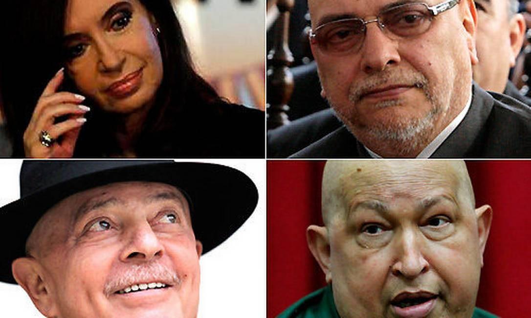 Cristina, Lugo, Lula e Chávez Foto: Reuters e AFP