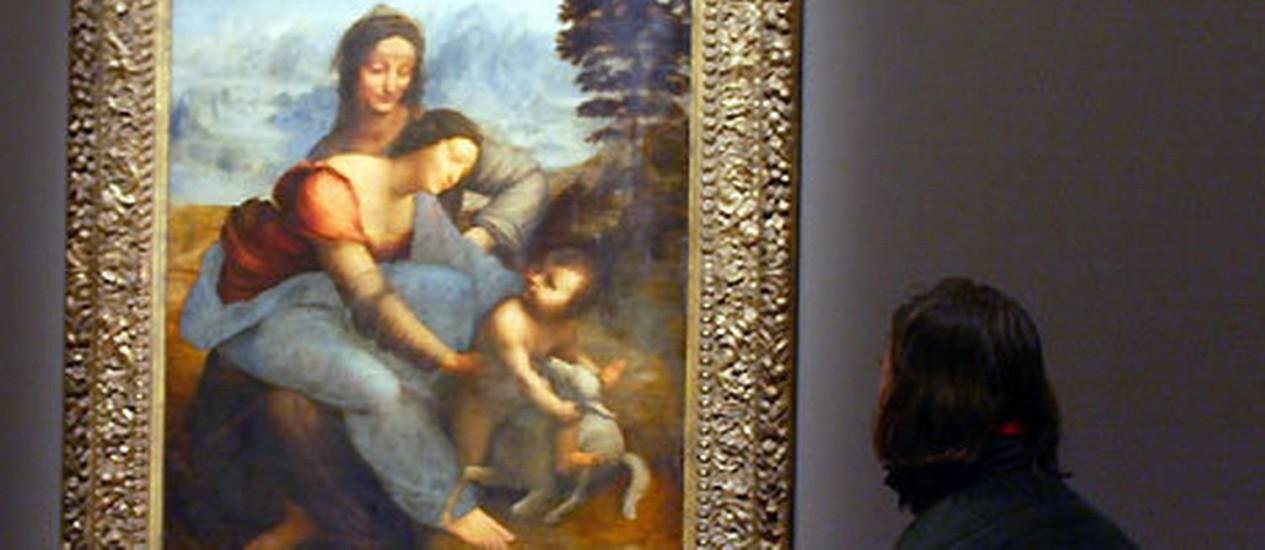 A obra 'The Virgin and Child With Saint Anne' Foto: Reprodução