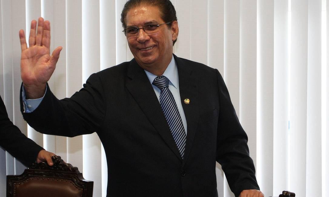 Jader Barbalho (PMDB-PA) assumiu mandato de senador nesta quarta-feira Foto: Ailton de Freitas / O Globo