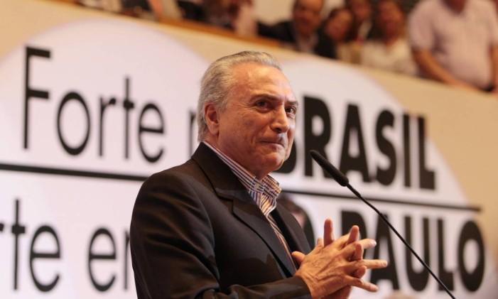 O vice-presidente, Michel Temer, está internado em São Paulo para operação na vesícula Foto: Michel Filho / Arquivo O Globo