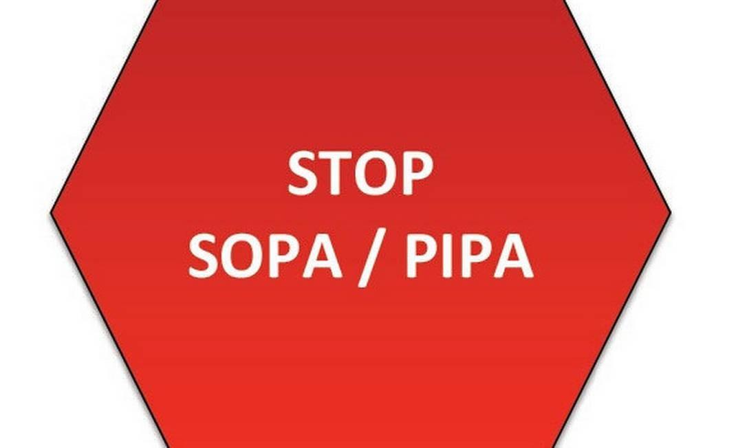 Símbolo de protesto da NetCoalition contra a Stop Online Piracy Act (SOPA) e a Pipa (Protect IP Act) Foto: Reprodução
