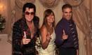 Casamento temático com um cover de Elvis Presley: Claudia Saleh e o marido renovaram os votos na Graceland Wedding Chapel, em Las Vegas Foto: Claudia Saleh / Divulgação/Arquivo pessoal