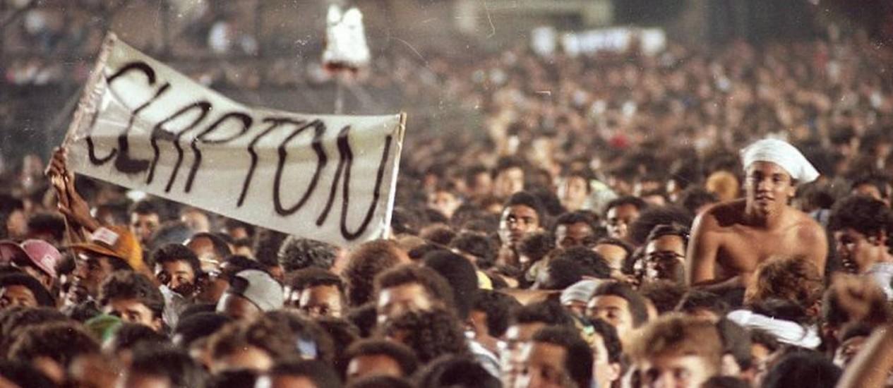 Apresentação na Apoteose do cantor Eric Clapton em 1990 Julio Cesar Guimarães