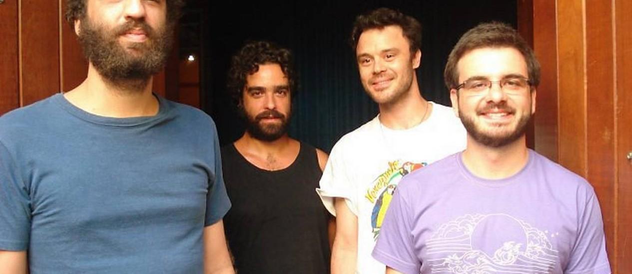 O grupo Los Hermanos ensaia para o primeiro show da banda após dois anos de recesso Foto: Divulgação