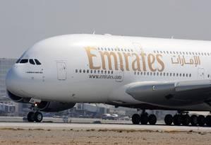 Emirates opera o voo mais longo do mundo Foto: ROBYN BECK / AFP