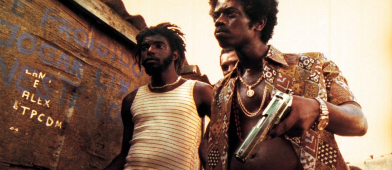 Leandro Firmino da Hora que interpreta o bandido Zé Pequeno em cena do filme 'Cidade de Deus' Foto: Divulgação / Divulgação