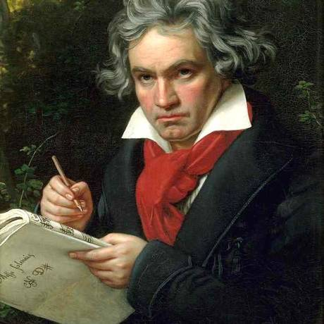 Retrato de Beethoven feito por Joseph Karl Stieler, em 1820 Foto: Reprodução