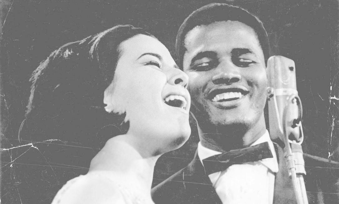 Jair Rodrigues com Elis Regina, sua parceira no programa 'O fino da bossa', em 1965 Arquivo