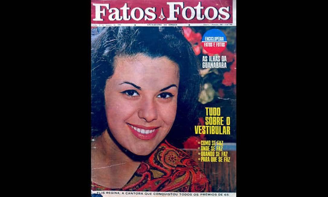 Capa da Fatos e Fotos de 8 de janeiro de 1966, revista guardada por fã e doada para o acervo da exposição 'Viva Elis' Divulgação