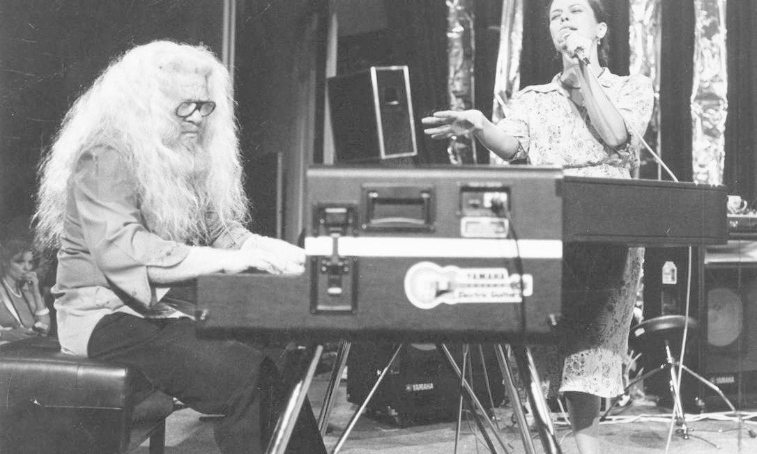 No show do Festival de Montreux, na Suíça, em 1979, ao lado de Hermeto Pascoal. A íntegra da apresentação será lançada em CD duplo este ano. Foto: Divulgação / Agência O Globo