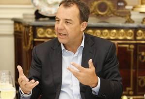 O governador do Rio de Janeiro, Sérgio Cabarl Foto: O Globo / Domingos Peixoto