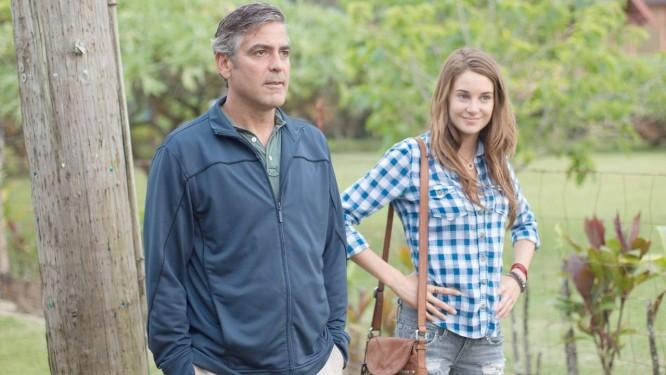 Cena do filme 'Os descendentes', com George Clooney Foto: Divulgação