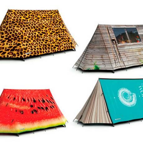 Vale tudo na hora de confeccionar barracadas de camping Foto: Divulgação