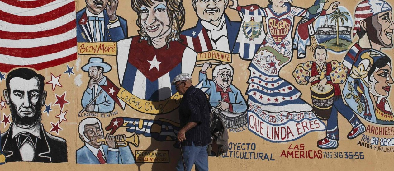 Pinturas em muro de Miami: para cubanos no exterior, poucos moradores da ilha podem se beneficiar com as reformas Foto: Reuters