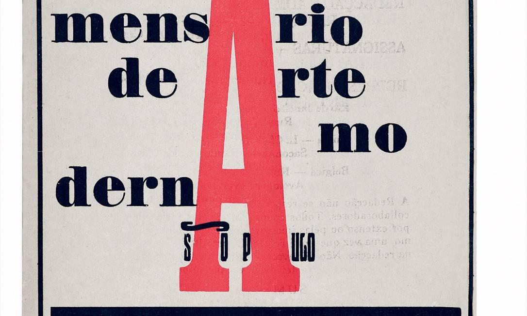 A revista Klaxon teve papel fundamental na divulgação das ideias modernistas Foto: Arquivo / Agência O Globo