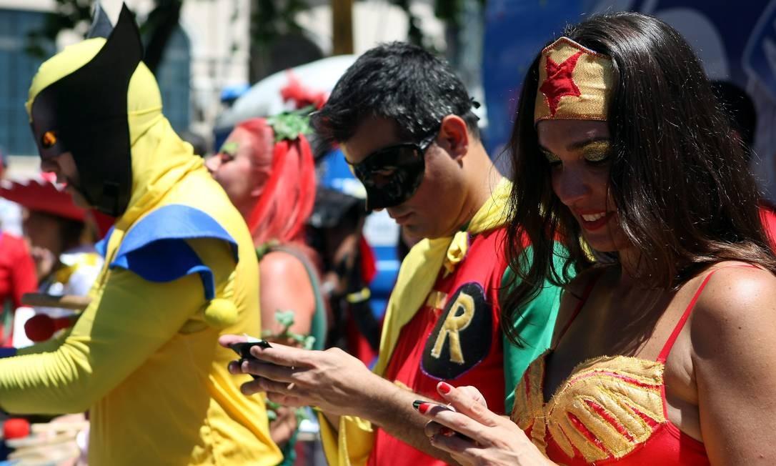 Os super-heróis estão conectados Felipe Hanower / O Globo