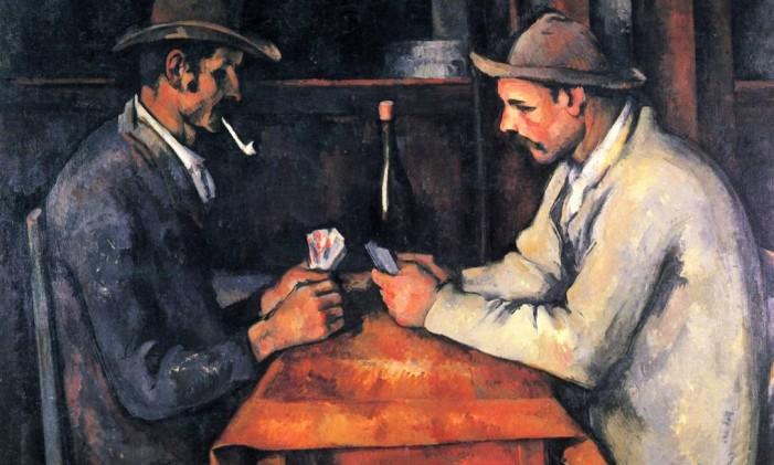 Quadro 'Os jogadores de cartas', de Paul Cézanne Foto: Reprodução Wikipedia
