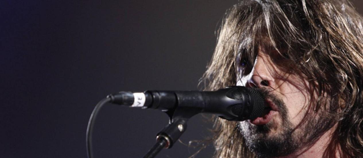 Dave Grohl, vocalista e guitarrista do Foo Fighters Foto: AP Photo