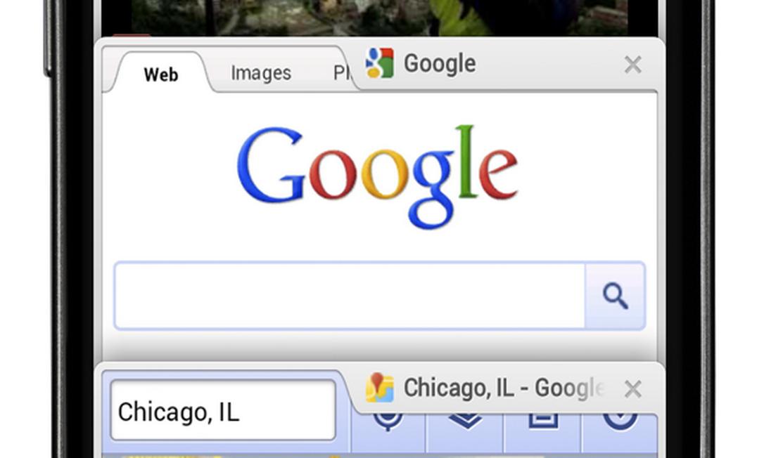 Google lança Chrome para Android Ice Cream Sandwich Foto: Divulgação
