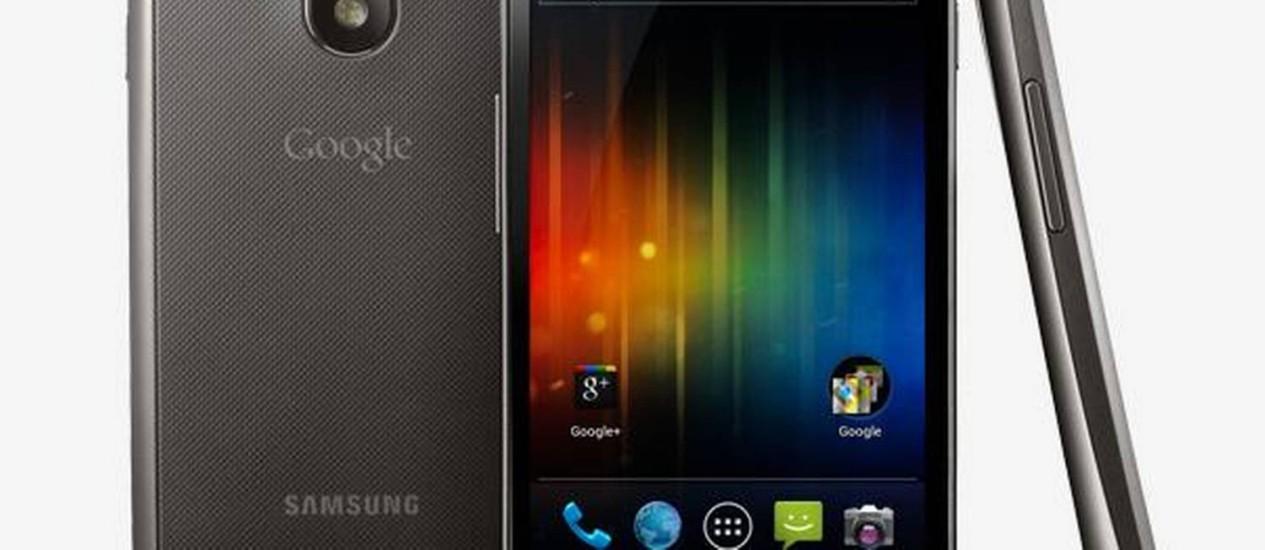 Galaxy X, o Nexus da Samsung, foi criado em parceria com a Google para o lançamento do Android Ice Cream Sandwich Foto: Divulgação