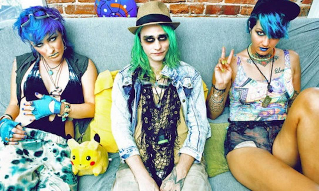 Os coloridos seapunks se inspiraram nos ravers dos anos 90 Foto: Divulgação