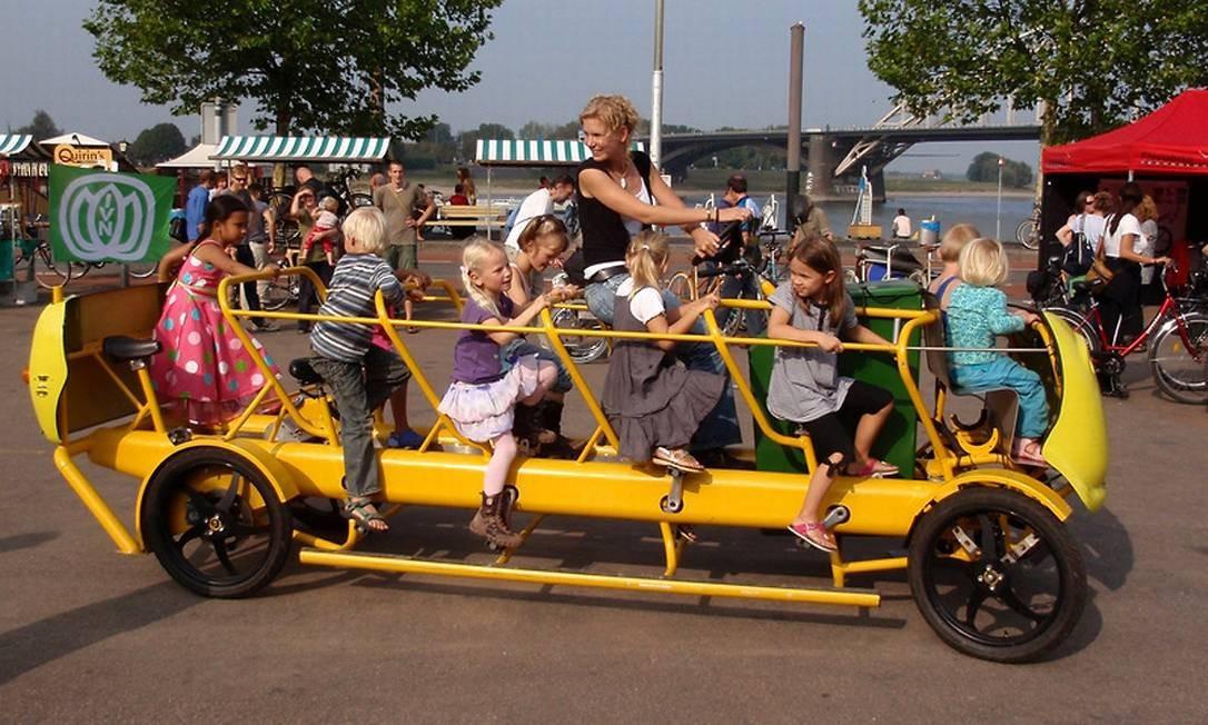 A bicicleta escolar holandesa Foto: Reprodução da internet