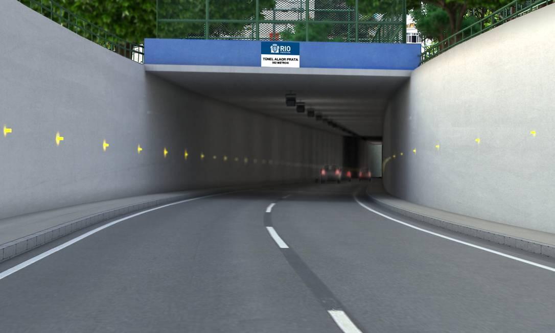 Layout do trabalho de recuperação do Túnel Velho Foto: Divulgação
