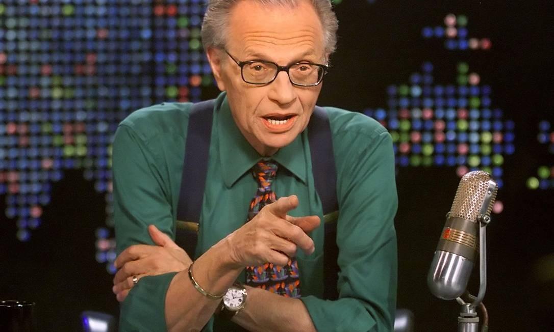 O host Larry King, de 87 anos Foto: Divulgação