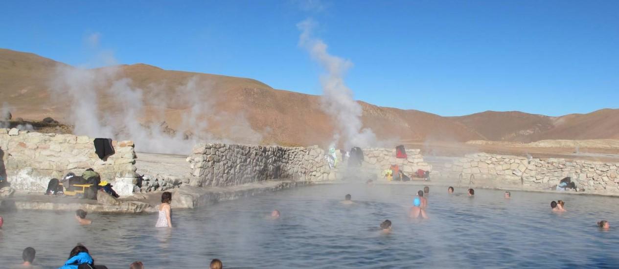 Gêiseres de Tatio, em San Pedro de Atacama, estão com acessos fechados Foto: Thaís Britto / O Globo