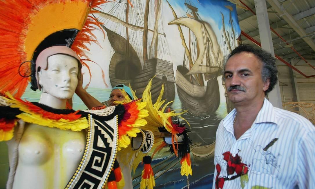 Helinho, presidente da Grande Rio, conseguiu habeas corpus do STJ. Ele poderá assistir ao desfile da agremiação Foto: William de Moura / O Globo (arquivo)