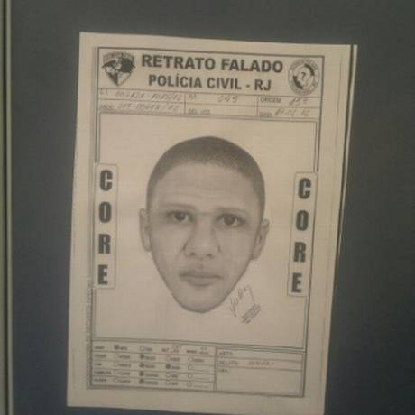 Retrato falado de homem acusado de abusar de menina em ônibus Foto: Divulgação Polícia Civil / Reprodução